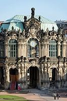 Glockenspiel Pavilion, Zwinger Palace, Dresden, Saxony, Germany, Europe