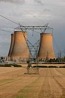 High Marnham power station, Nottinghamshire, England The station is derelict, the chimneys and boiler house having already been demolished