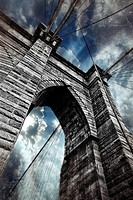 The Brooklyn Bridge in New York City, of on the most famous bridges in the world