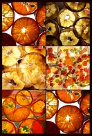 a collage of fruit montages