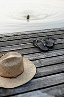 Straw hat and sandals