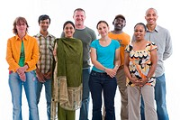 Multiracial group of adults in the studio,
