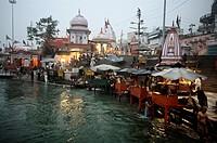 Haridwar  Uttaranchal, India, Ganges River.