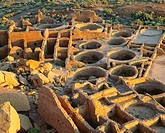 Pueblo Bonito Anasazi ´great house´ pueblo, built A D 850-1130 3 stories high, over 600 rooms Chaco Culture National Historical Park, New Mexico