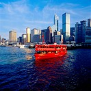 Red Ferry in Victoria Harbour