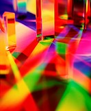 Colorful Reflections of Prism