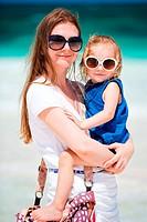 Mutter und Tochter im Urlaub
