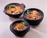 Spicy Korean_Style Stew Pan, Pork, Oyster, Cod