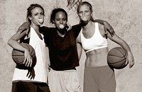 Young Female Basketball Players