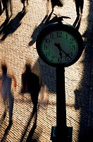 Pedestrians and Clock