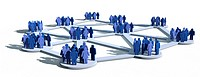 Soziale Netzwerke mit verschiedenen Gruppen von Menschen