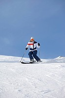 Woman snow skiing