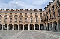 Arcades, Plaza Mayor square, Ocana, Castilla-La Mancha, Castile, Spain, Europe, PublicGround
