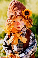 Child Dressed Up as a Scarecrow
