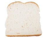 Slice of fresh white bread, isolated on whtie