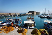 Fortress of Rocca al Mare, Venetian Harbor, Heraklion, Crete, Greece