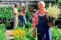 Garden shop owner