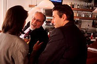 Businesspeople Socializing at a Bar