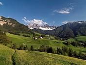 Mountain village, Le Odle, Villafranca, South Tyrol, Trentino_Alto Adige, Italy