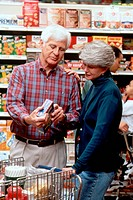 Elderly Couple Grocery Shopping