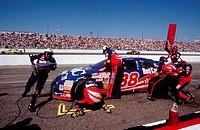 NASCAR pit stop