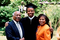 Graduate with his parents