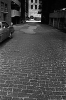 Alley With Cobblestones, Chicago, Illinois, USA