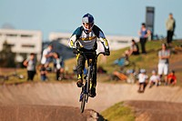 BMX Biker Performing, Mid_Air