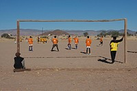 football match in the desert, namibia