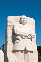 USA, Washington DC: Martin Luther King Memorial to the negro Civil Rights leader on the National Mall