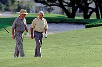 Golfing friends on the green