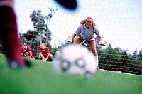 Focused goalie