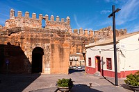 Niebla, Huelva Province, Andalusia, southern Spain  Gate through the old walls