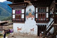 Drukgyel village near Paro, Bhutan, Asia.