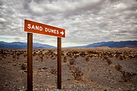 USA, California, Death Valley, direction sign