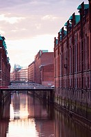 Germany, Hamburg, Old warehouses in Speicherstadt