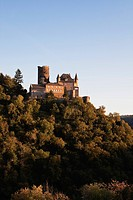 Germany, Rhineland Palatinate, View of Katz Castle during sunset