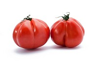Two red non classic tomatoes