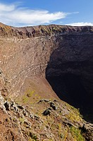 Crater rim of the volcano Vesuvius near Naples