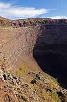 Crater rim of the volcano Vesuvius near Naples