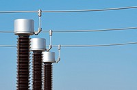 forefront of the elements of an electrical substation