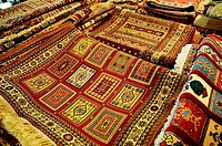 Souvenir carpet and jewelry antique shop, Jordan, Middle East.