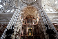 Cathedral in the Cathedral–Mosque of Córdoba, Mezquita, interior view, Cordoba, Andalusia, Spain, Europe