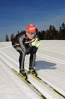Cross_country skiing, Tobias Angerer, Hemmersuppenalm alp, Reit im Winkl, Chiemgau region, Upper Bavaria, Bavaria, Germany, Europe