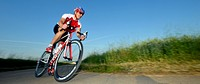 Cyclist, professional racing bike, Waiblingen, Baden_Wuerttemberg, Germany, Europe, PublicGround