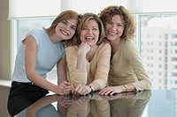 Three Businesswomen Smiling