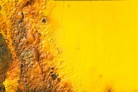 Detail of scorched yellow plastic