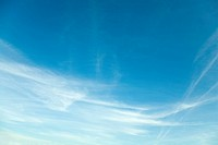 Cirrostratus clouds in the sky