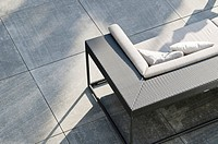 Gray couch on terrace
