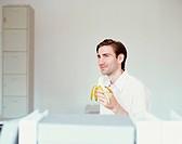 Man Eating a Banana